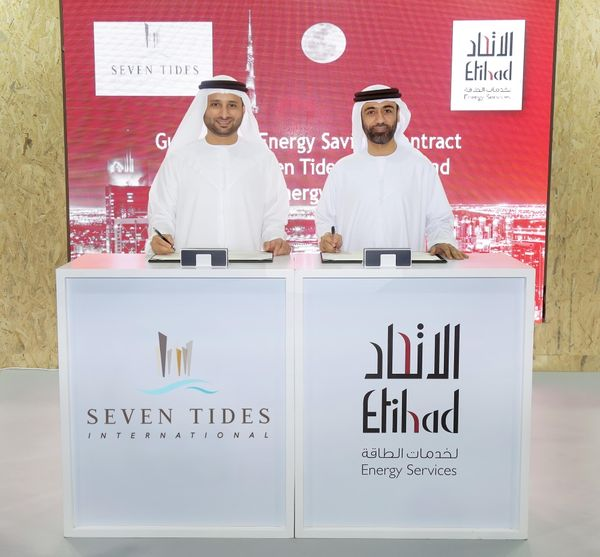 Etihad ESCO partners with Seven Tides to improve energy efficiency of 22 buildings